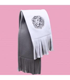 More about Fular barbati cu broderie leu din polar dublu in 2 culori