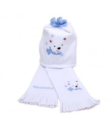 Caciula si fular copii ursuletul polar producator Atelierele Cris  144,00Lei