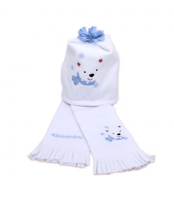 Caciula si fular copii ursuletul polar
