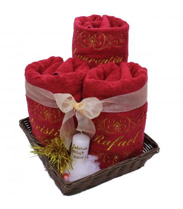 Cadou de Craciun set prosoape personalizate si decorate