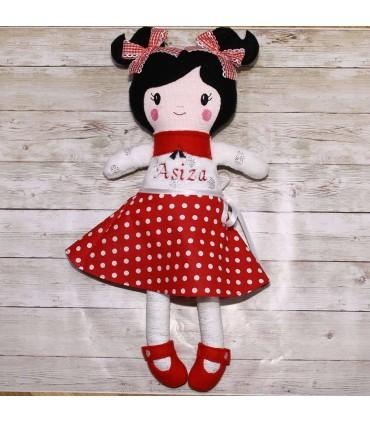 Papusa handmade personalizata Asiza si accesorii producator Atelierele Cris  169,00Lei