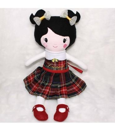 Papusa handmade personalizata Luana si accesorii producator Atelierele Cris  169,00Lei
