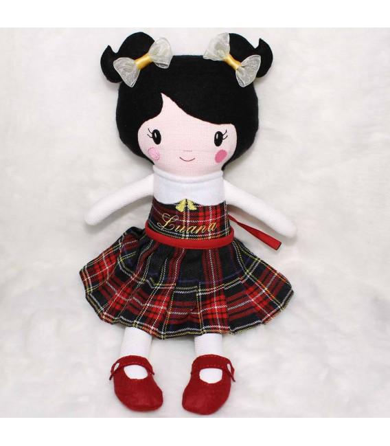 Jucarii personalizate bebelusi - Papusa handmade personalizata Luana si accesorii