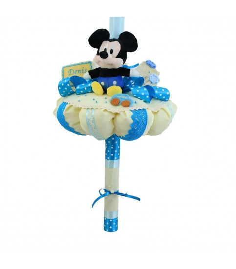 Lumanare botez mickey mouse jucarie plus