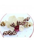 Cutie trusou botez personalizata ursulet cu papionpe rosu