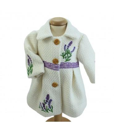 Paltonas botez fetite model Lavanda