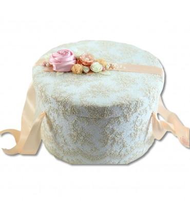 Cutie trusou botez eleganta ornata cu dantela Chantilly