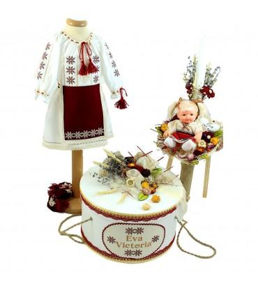 Trusou botez traditional fetite set complet Eva Victoria
