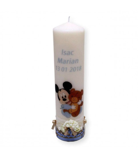 Lumanare botez Mickey Mouse printata