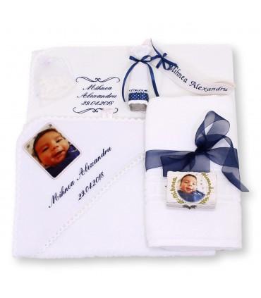 Trusou botez cu poza bebelusului personalizat