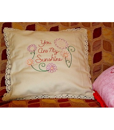 "Perna decorativa brodata ""You are my sunshine"""