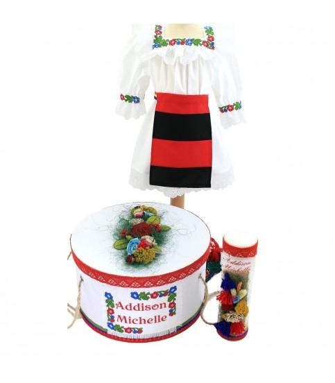 Trusou botez complet fetite traditional Maramures