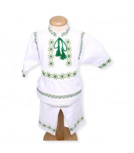 Trusouri botez traditionale - Trusou botez stelute complet nuante verzi