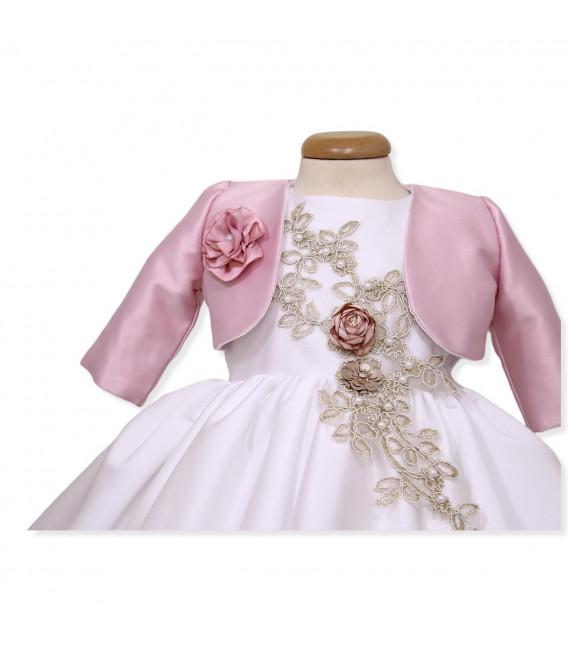 Rochita botez elegant roze