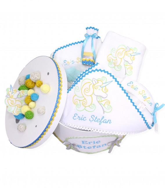 Trusou botez personalizat cutie unicorn  - Trusouri  Botez Complete
