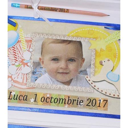 Set personalizat taierea motului pentru baieti Luca