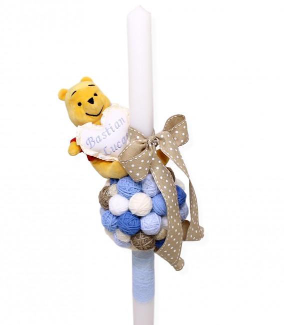 Lumanare botez Winnie the Pooh cu gheme