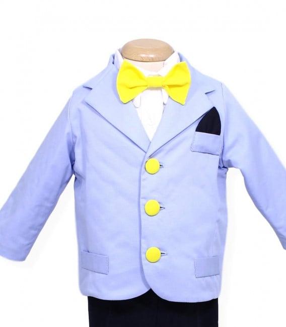 Trusou botez personalizat complet baiat Baby Mickey cu jucarie