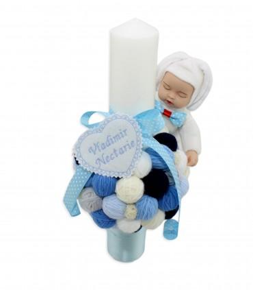 Lumanare de botez cu gheme Vladimir