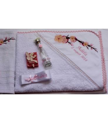 Trusou botez personalizat -floare de cires