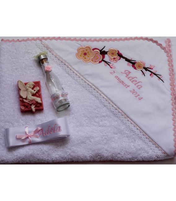 Trusou botez personalizat floare de cires