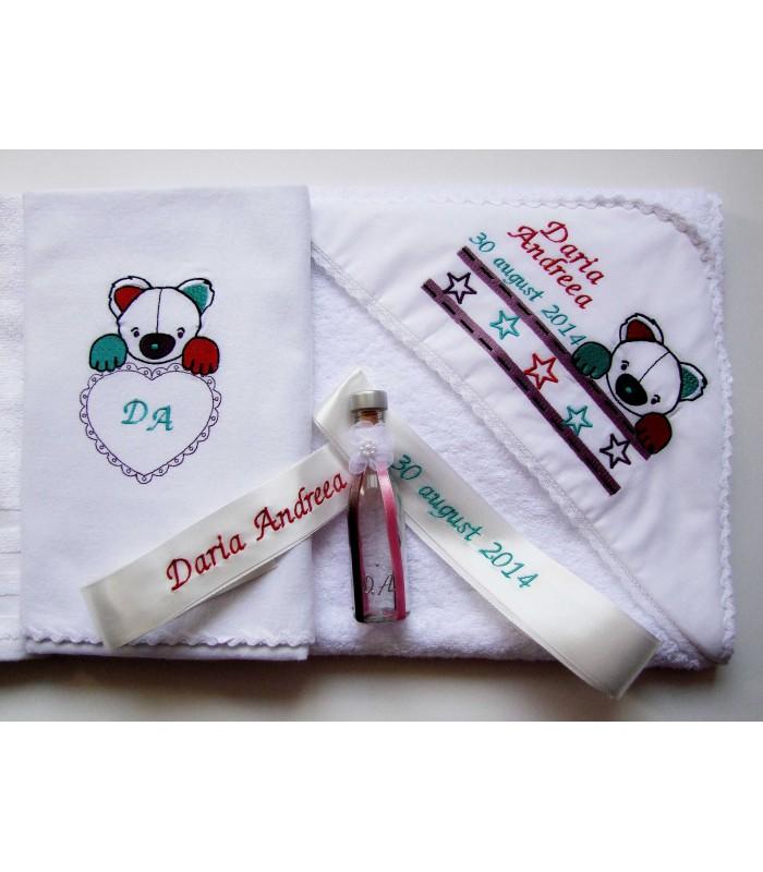 Trusou botez personalizat - Ursuletul Panda