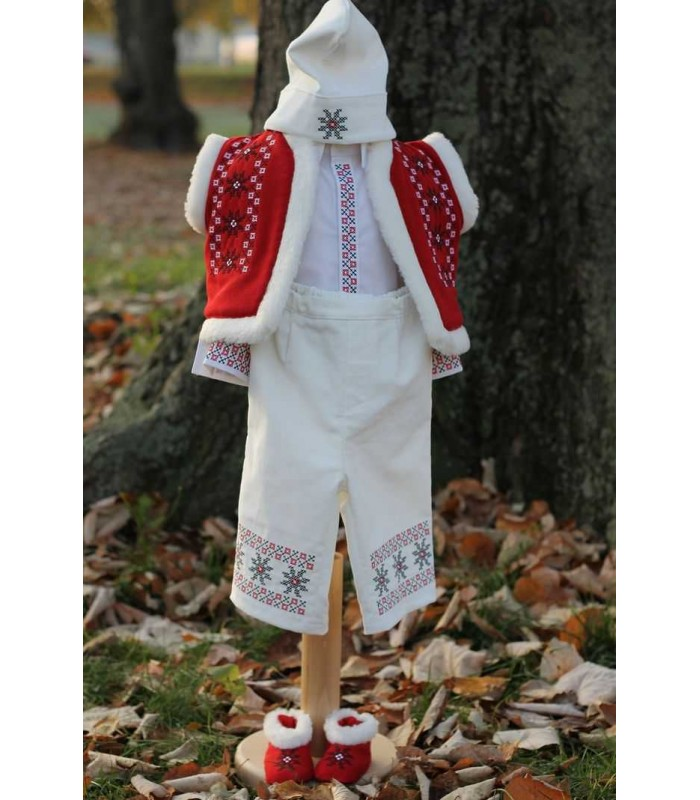 Costum botez traditional brodat baieti Alexandru