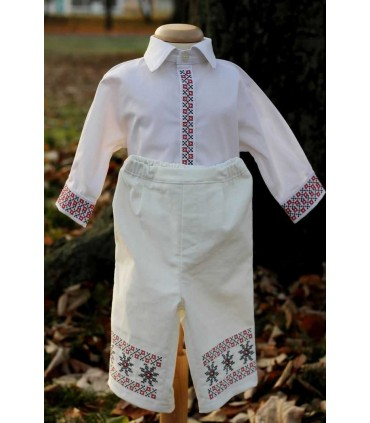 Costum botez traditional baieti Alexandru producator Atelierele Cris  520,00Lei