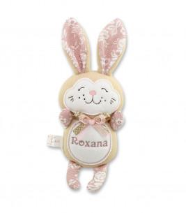 Jucarii personalizate bebelusi - Iepuras personalizat Roxana