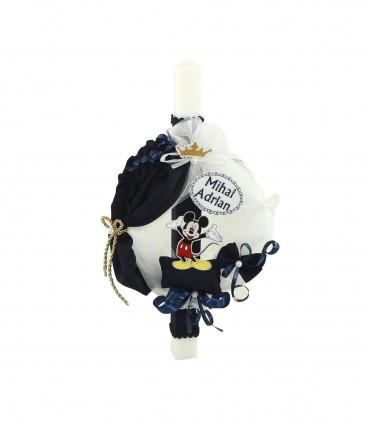 Lumanare botez baiat Mickey