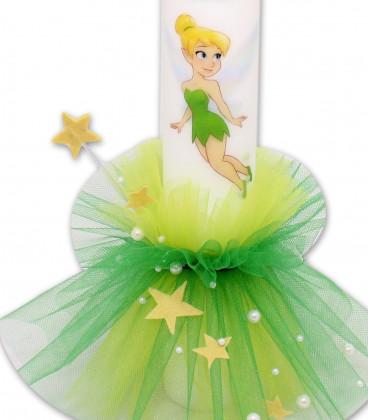 Lumanare de botez personalizata Tinker Bell