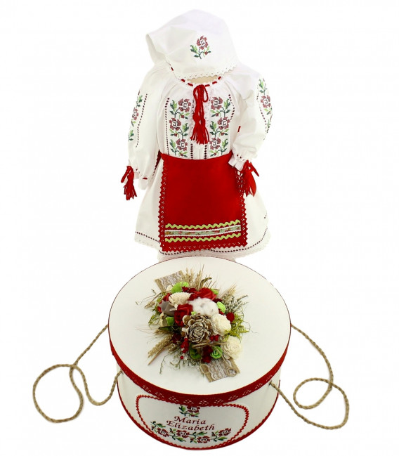 Trusouri botez traditionale - Trusou botez cu lumanare traditional Maria