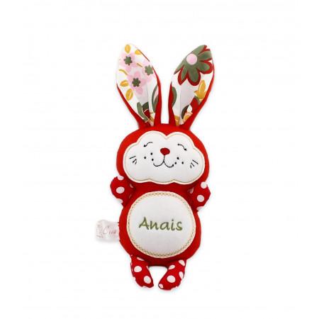 Jucarii personalizate bebelusi - Iepuras handmade personalizat Anais