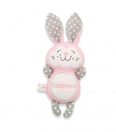 Jucarii handmade iepuras personalizat Andreea producator Atelierele Cris  89,00Lei