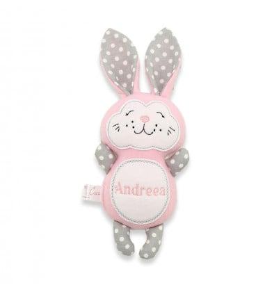Jucarii personalizate bebelusi - Jucarii handmade iepuras personalizat Andreea