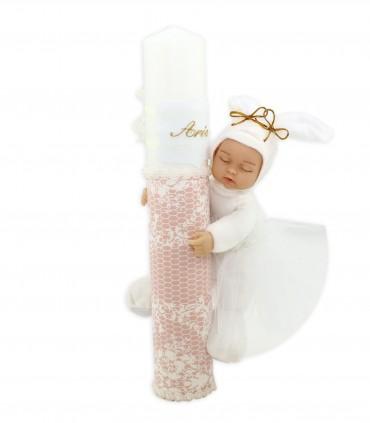 Lumanare Botez Personalizata Innocence producator Atelierele Cris  199,00Lei