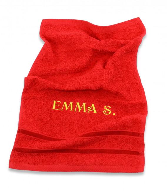 Set saculet gradinita si prosopel personalizate Emma