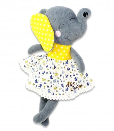 Jucarii personalizate bebelusi - Elefant de plus personalizat - Abi