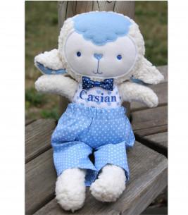 Jucarii personalizate bebelusi - Oita bleu jucarie handmade