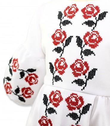 Trusouri botez traditionale - Trusou botez traditional complet personalizat trandafiri