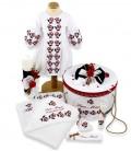 Trusou botez traditional complet personalizat trandafiri