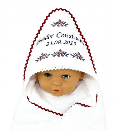 Trusouri botez traditionale - Trusou botez complet model traditional Constantin