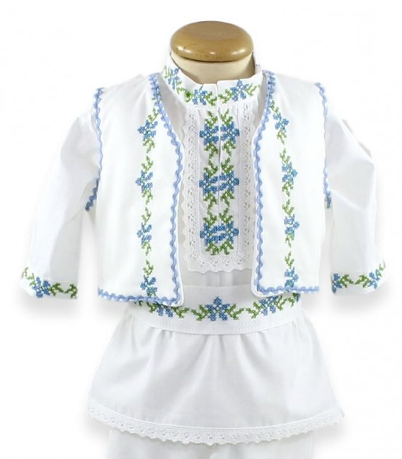 Trusouri botez traditionale - Trusou botez traditional băieți complet Viorel