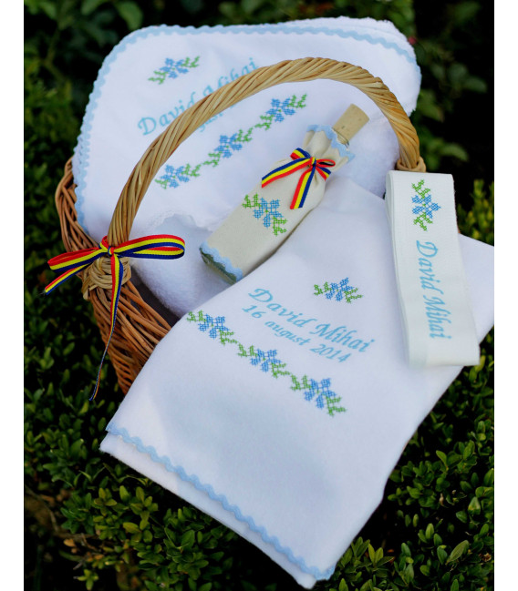 Trusouri botez traditionale - Trusou botez traditional personalizat baieti