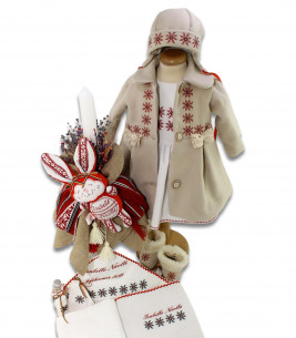 Trusou botez complet iarna model traditional Isabelle