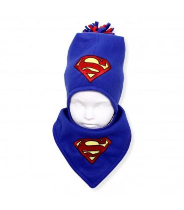 Cadou de Crăciun personalizat caciulita și fular Superman