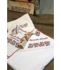 Trusouri botez traditionale - Trusou botez traditional personalizat broderie floare
