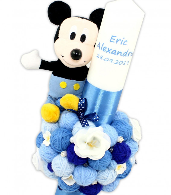 Trusou botez personalizat complet Baby Mickey dragalas 20 piese  - Trusouri  Botez Complete