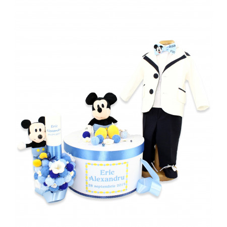 Trusou botez personalizat complet Baby Mickey dragalas 20 piese