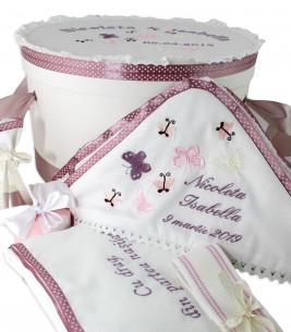 More about Trusou botez fete si cutie alegerea nasilor fluturasi pudrati